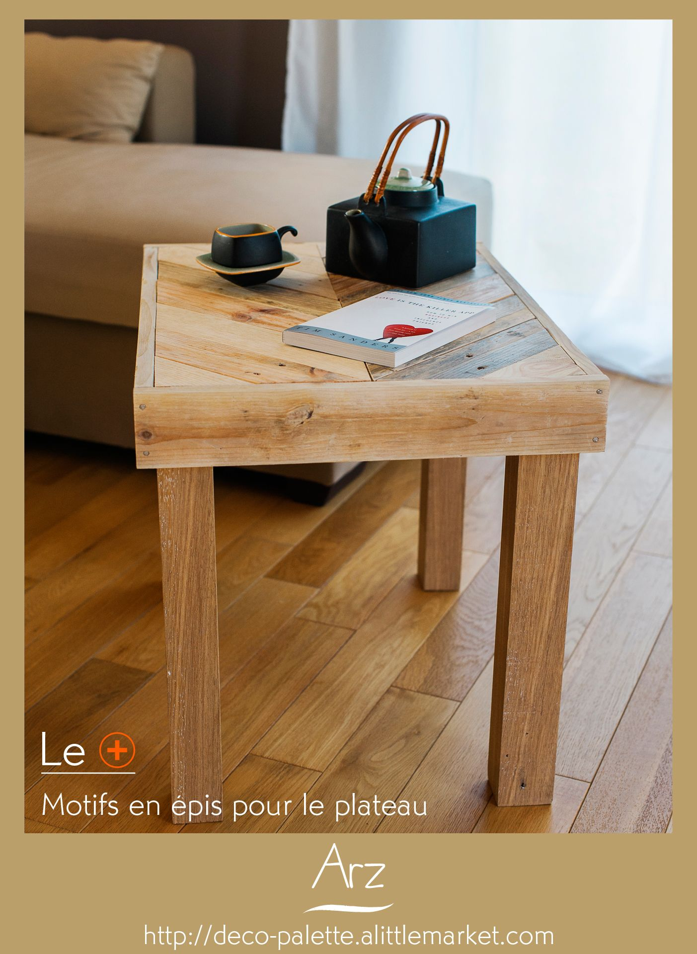 J Ai Pens Cette Table Basse Pour Prolonger Un Bout De Canap  # Table De Salon En Palette