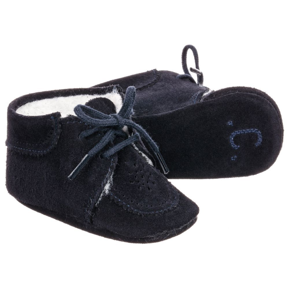 52a4ccef6781 Blue Suede Pre-Walker Shoes for Boy by Tartine et Chocolat. Discover the  latest designer Shoes for kids online