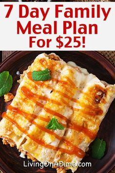 7 Day Meal Plan for $25: Cheap And Easy Family Meals images