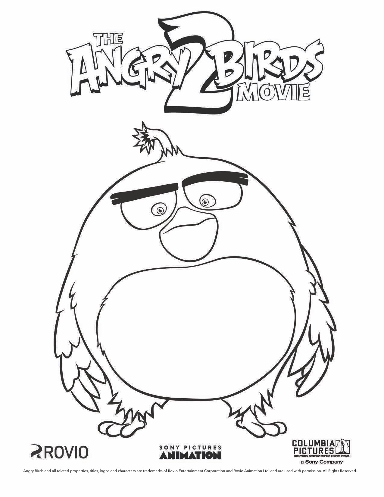 The Angry Birds Movie 2 Bomb Coloring Page Bird Coloring Pages Angry Birds Pigs Angry Birds