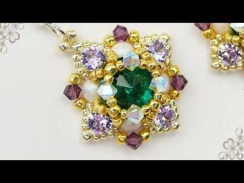 Handmade Earrings with 10 mm rivolis - YouTube