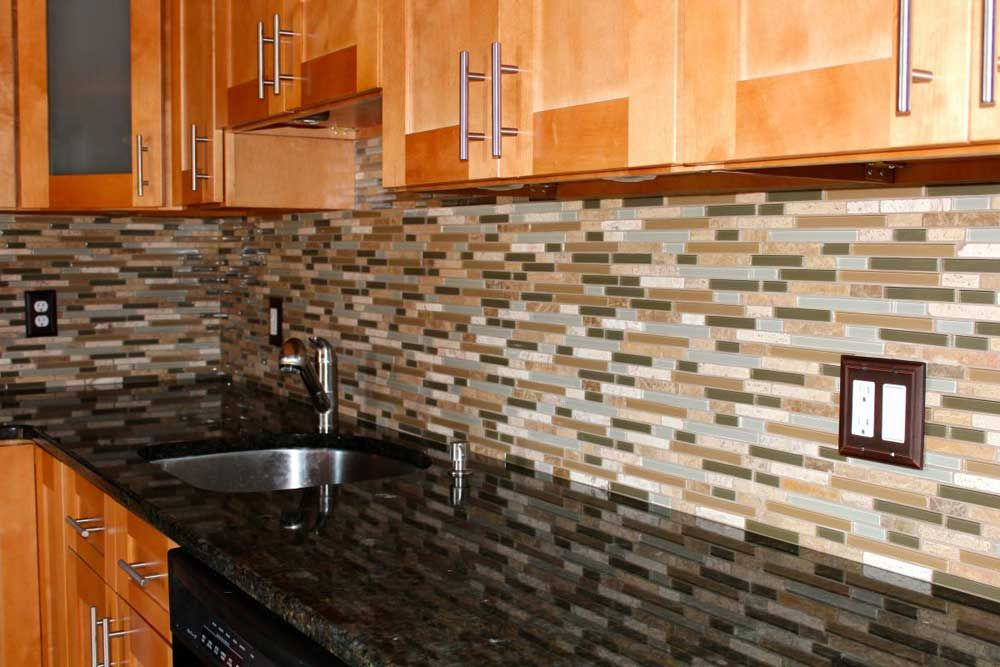 Modern Glass Metal Backsplash Tile Quartz Countertop From Impressive Design Tiles For Kitchen Review