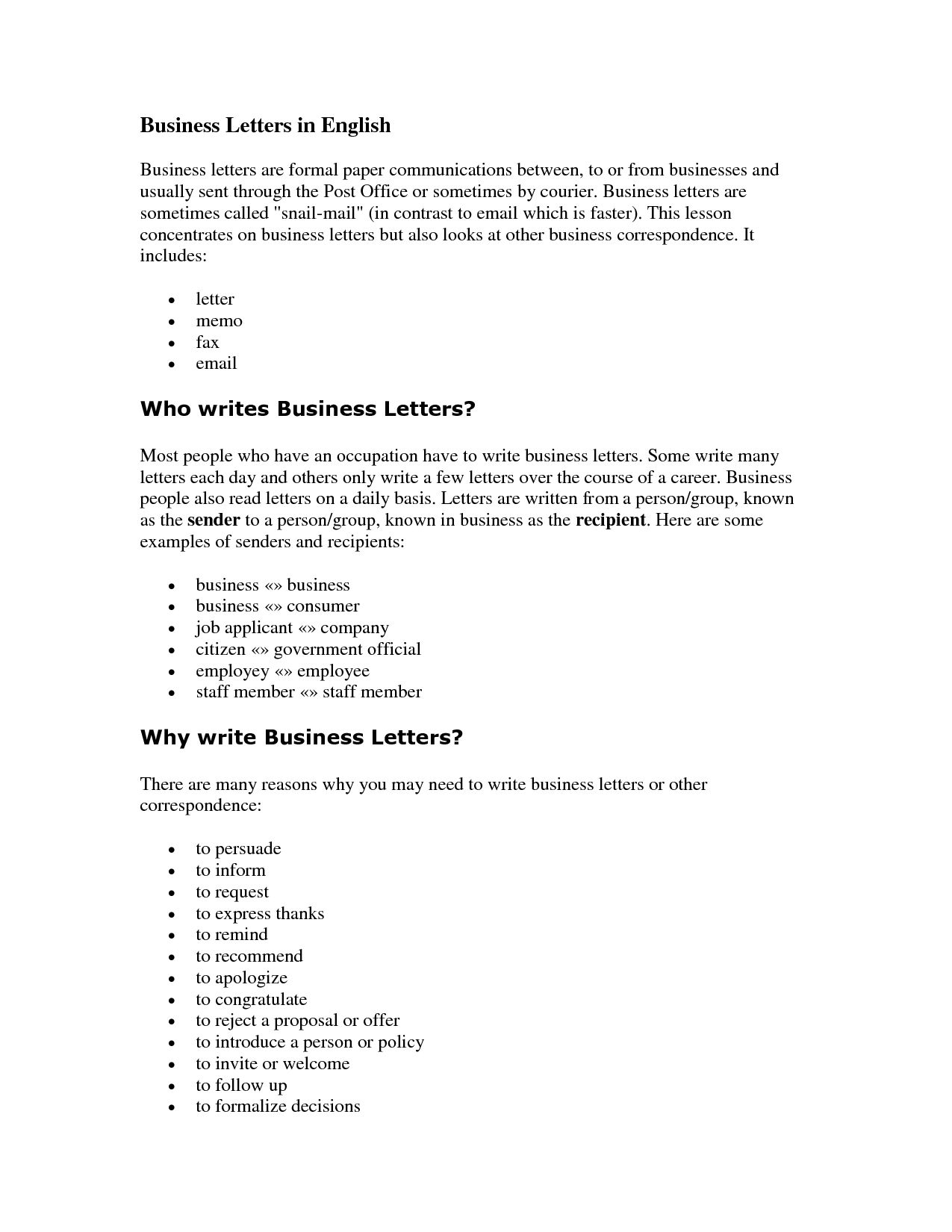 Letter Writing: Business Letters - PowerPoint PPT Presentation