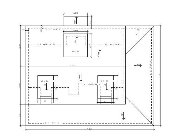 Home plans flat roof garage plans roof design plans hip for Flat roof garage with deck plans