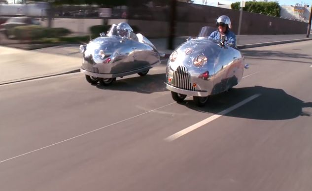 jay leno and the piaggio mp3 decopods video - motorcycle chat