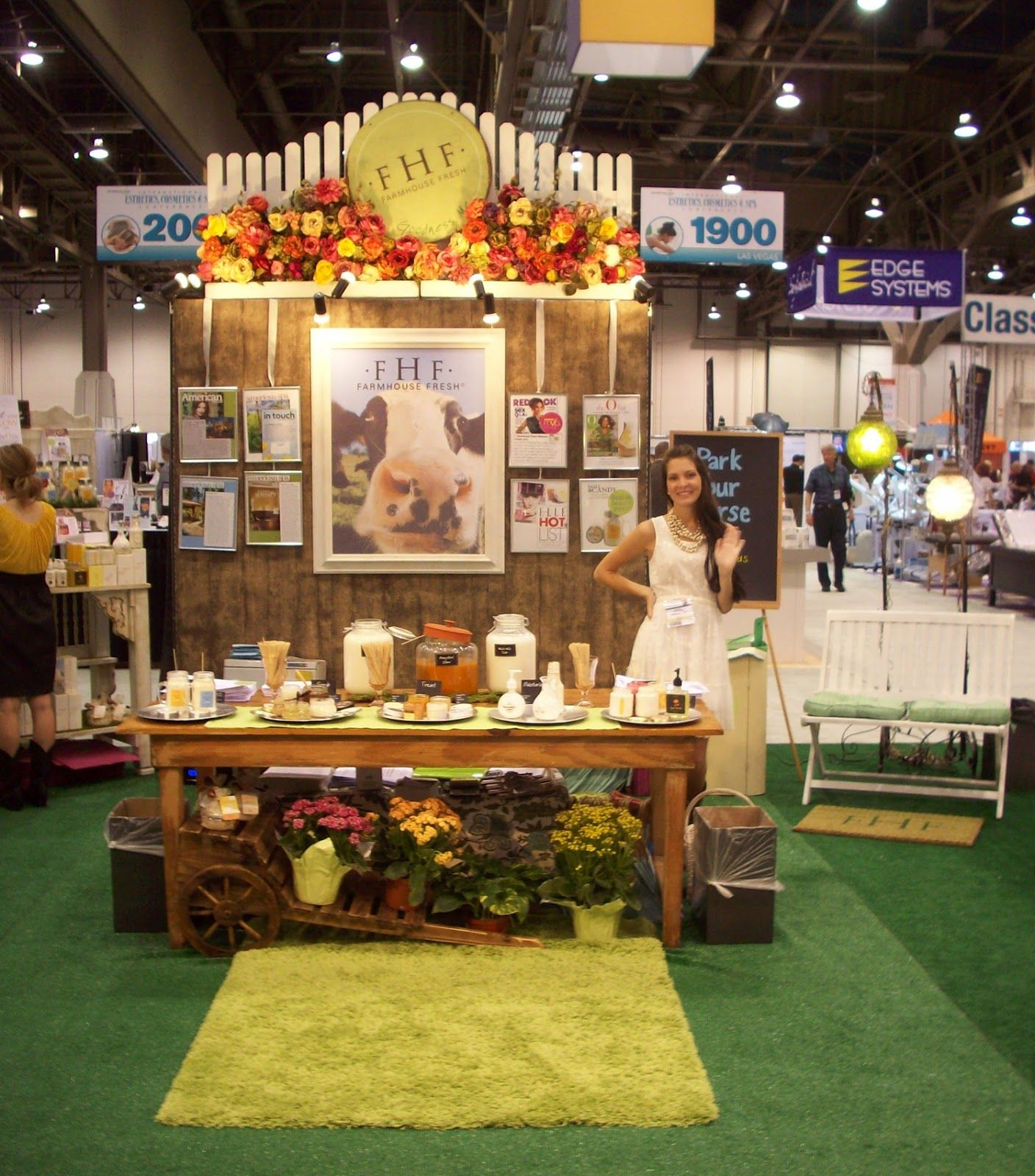 Trade Show Booth Objectives : One of the first booths at a skin show farmhouse fresh