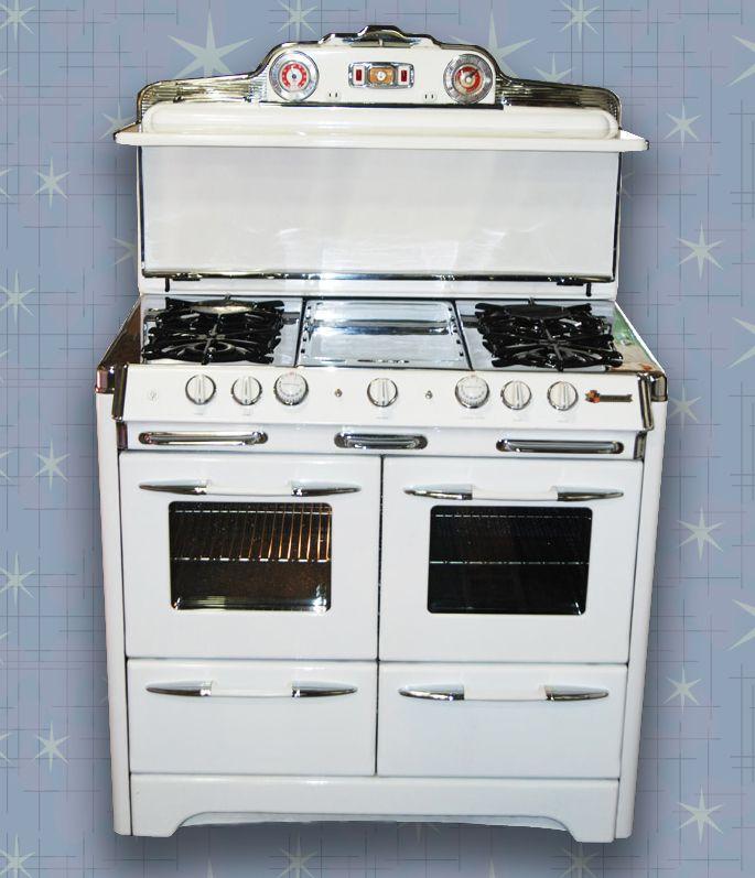 Restored 1953 O Keefe Merritt Double Oven Vintage Stoves Double Oven Vintage Oven