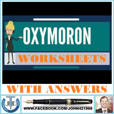 OXYMORON+WORKSHEETS+WITH+ANSWERS+from+JOHN421969+on+TeachersNotebook ...