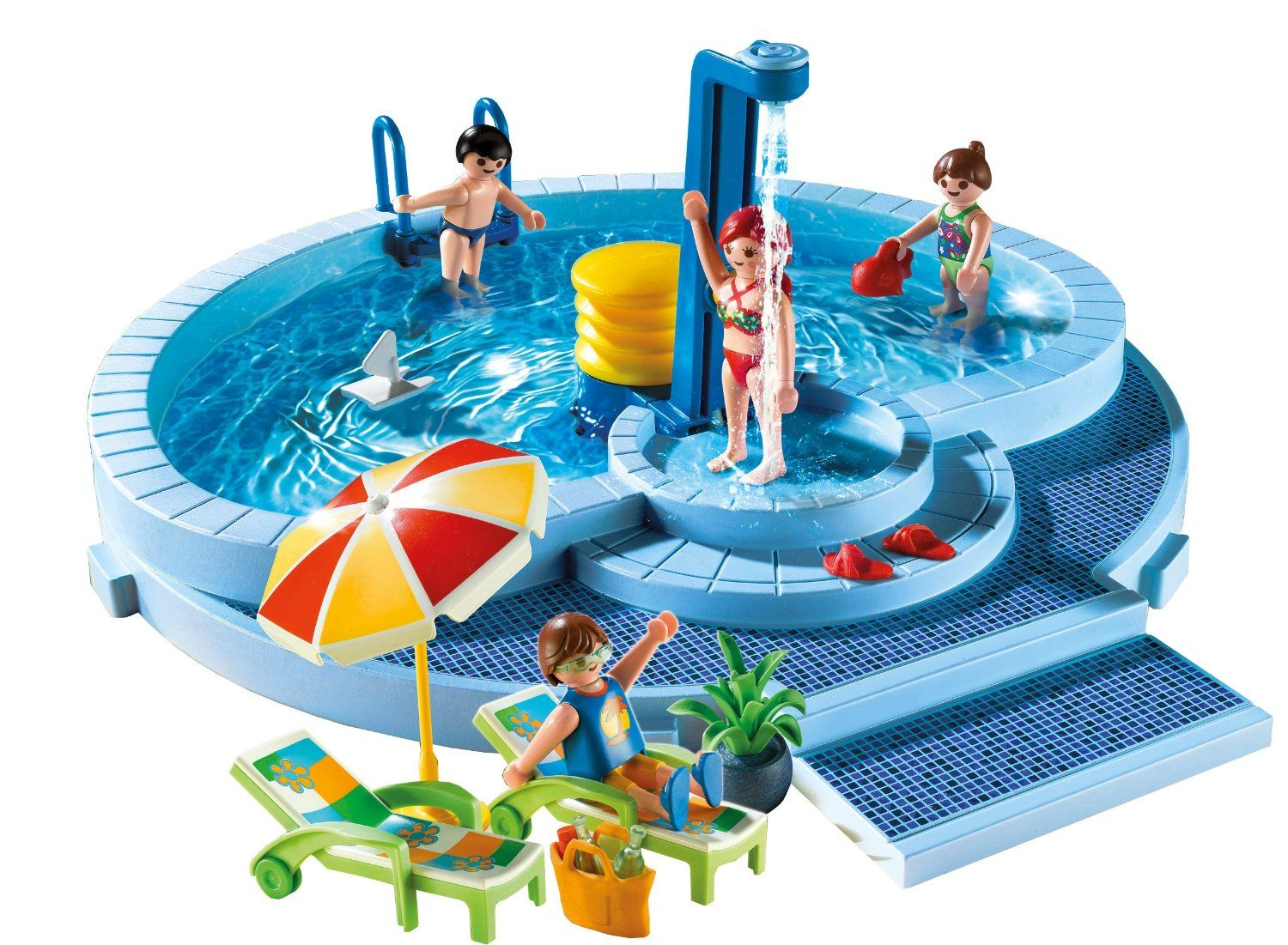 Playmobil pool 5964 playmobil de r ves pinterest for Piscine playmobil prix