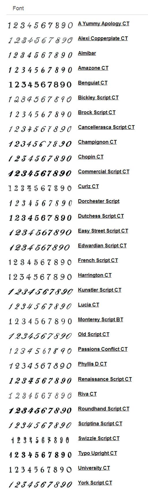 Metal Table Numbers 1 thru 10 Font of Your Choice by
