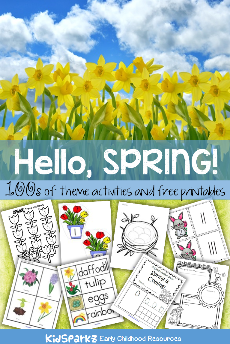 100s of activity printables and games to make for a SPRING theme to ...