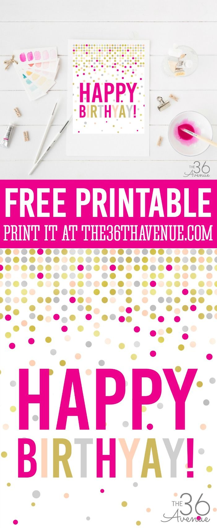 Birthday Printable | Birthdays, Wrapping ideas and Free printables