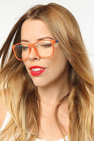 81125aabe1e  Mimic  Rubber Coated Thin Frame Clear Wayfarer Glasses - Blue Pink -  5228-10