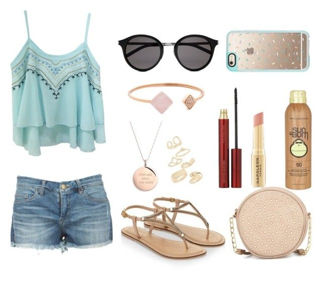 """""""Summer day #1"""" by minni15 on Polyvore featuring Accessorize, Neiman Marcus, Yves Saint Laurent, Kate Spade, Topshop, Michael Kors, Kevyn Aucoin, Napoleon Perdis, Sun Bum and Casetify"""