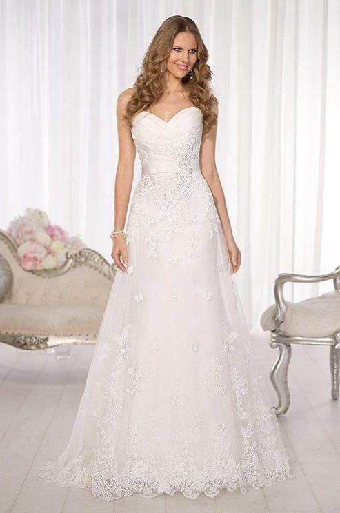 Elegant sweetheart A Line wedding dress by Essense Of Australia, Spring 2014