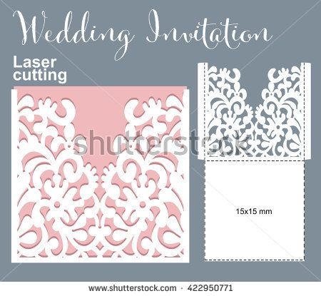 Vector die laser cut envelope template invitation envelope wedding vector die laser cut envelope template invitation envelope wedding lace invitation mockup vector stopboris Choice Image