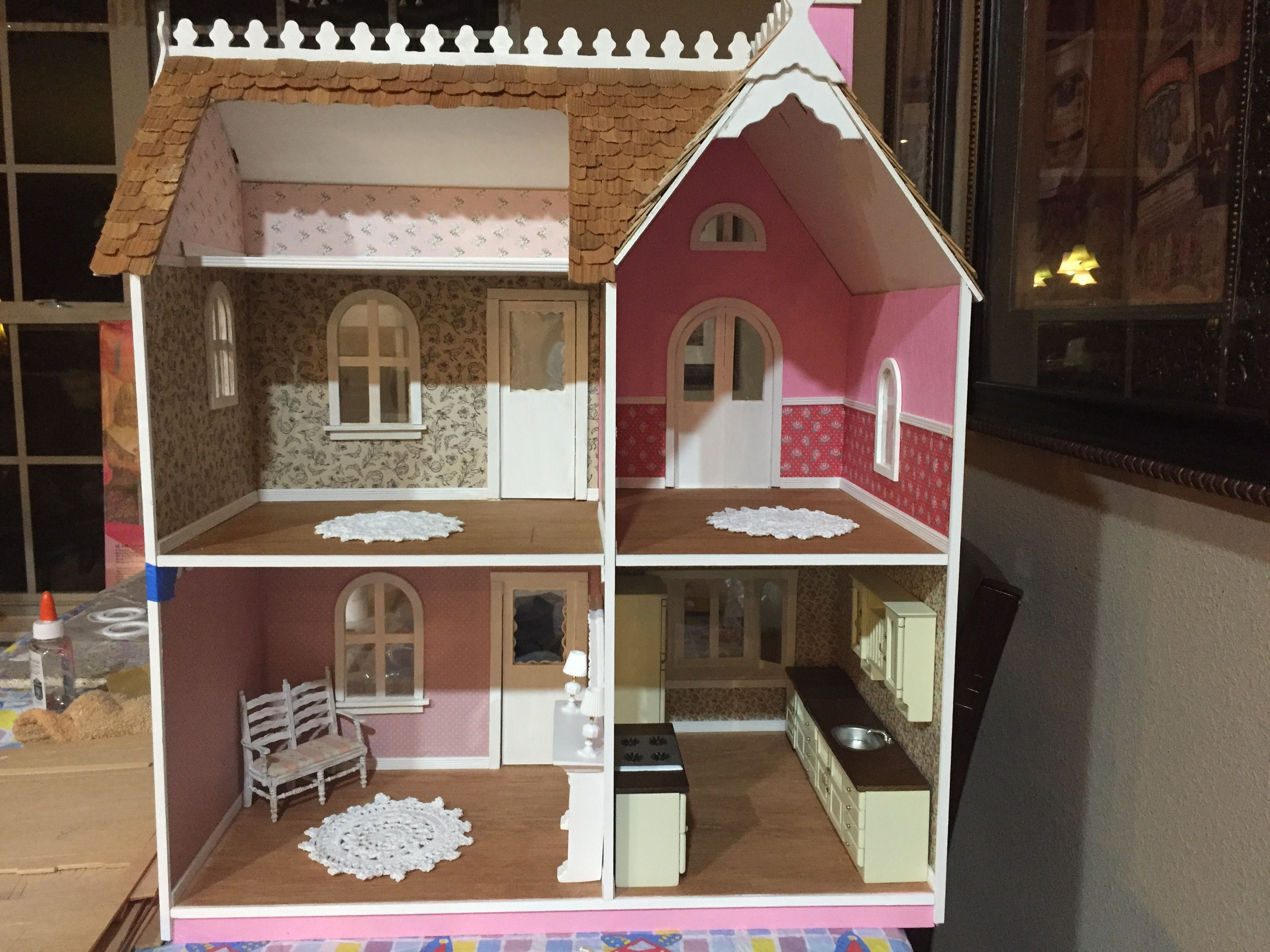 Inside Allison Dollhouse By Artply Dollhouse Diy Diy Dollhouse