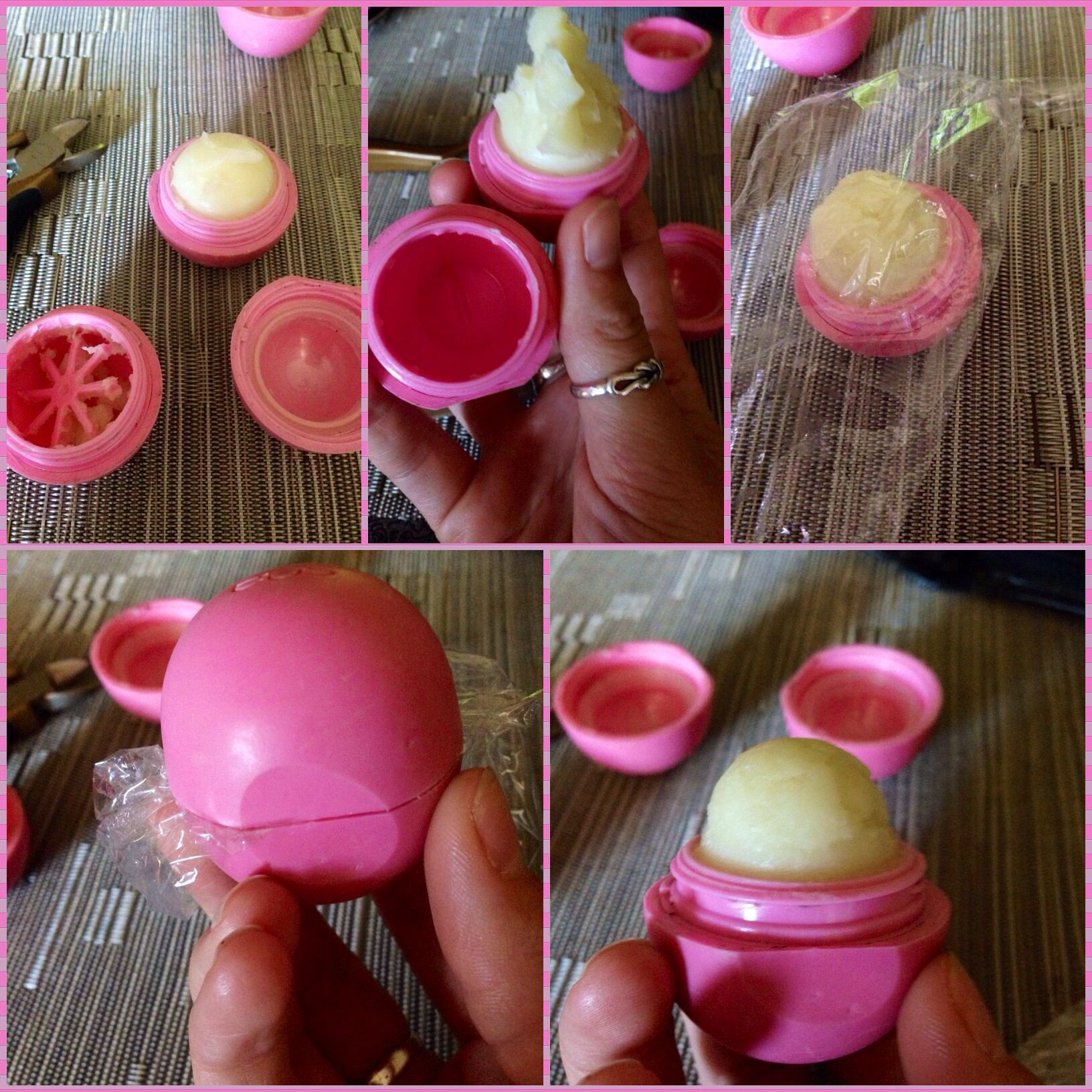 Balm christmas gift turn old eos containers into cool crafts ideas - 9 Hacks For Repurposing Old Makeup Containers Into Something Useful