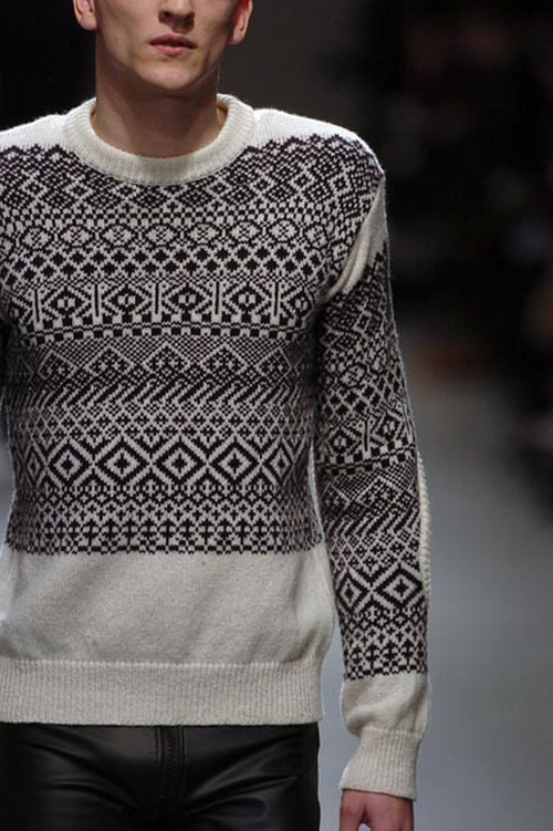 Raf Simons F/W '05 | like the fair isle placement not all over ...
