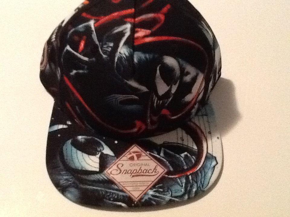 Spiderman Venom Hat Cap Snapback Costume Cosplay Marvel Comics
