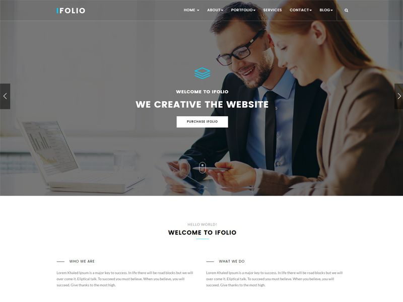 IFOLIO is a Business Free HTML template perfect for website project ...