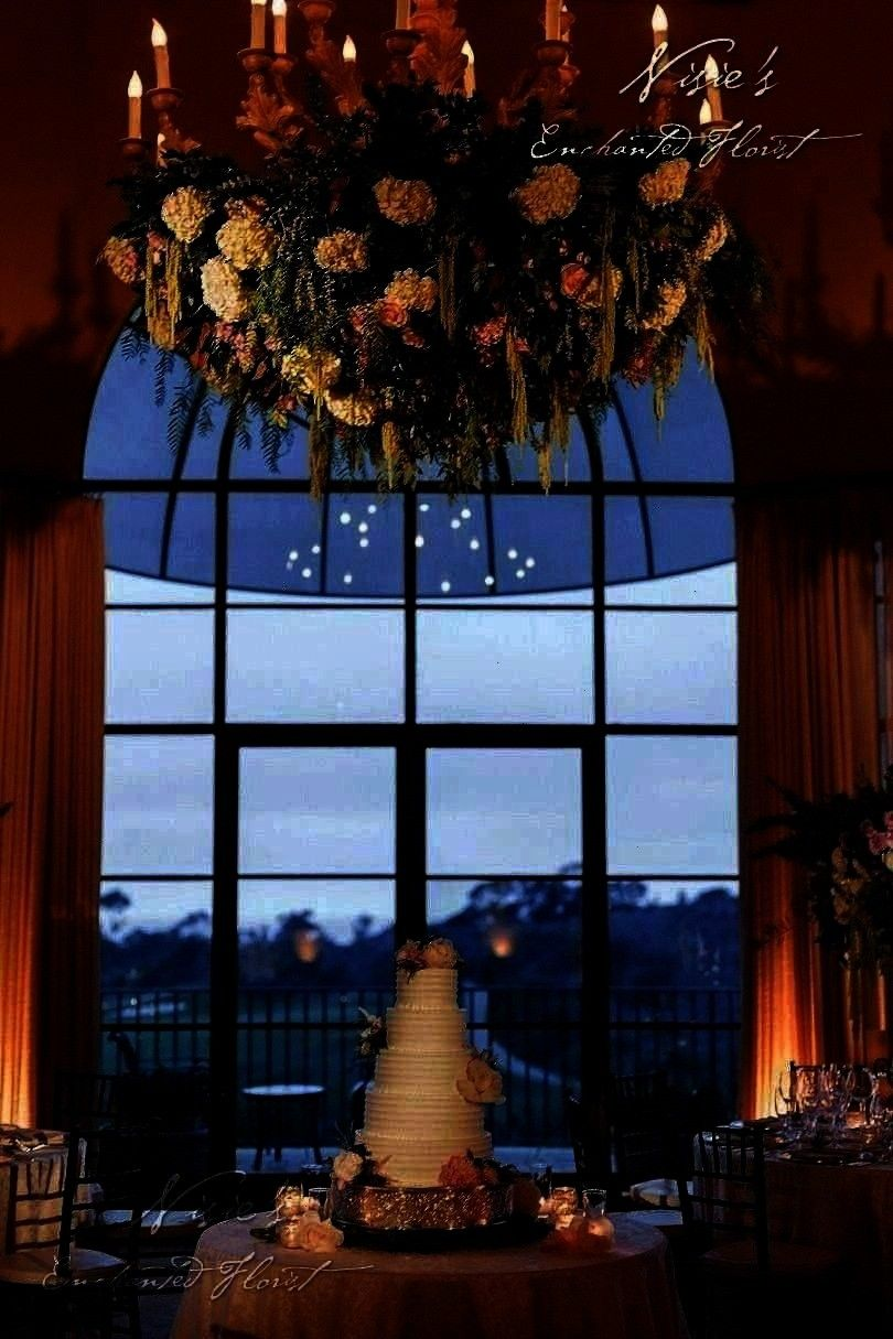 idyllic for Nisies team to floralize   Nisies Enchanted Florist  Pelican Hills chandeliers are idyllic for Nisies team to floralize   Nisies Enchanted Florist nisiesencha...