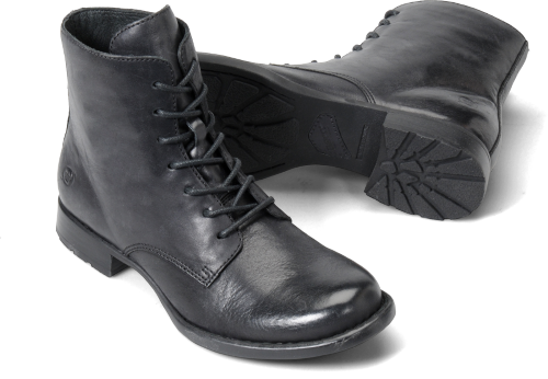 Born Womens Orlene in Black Burnished