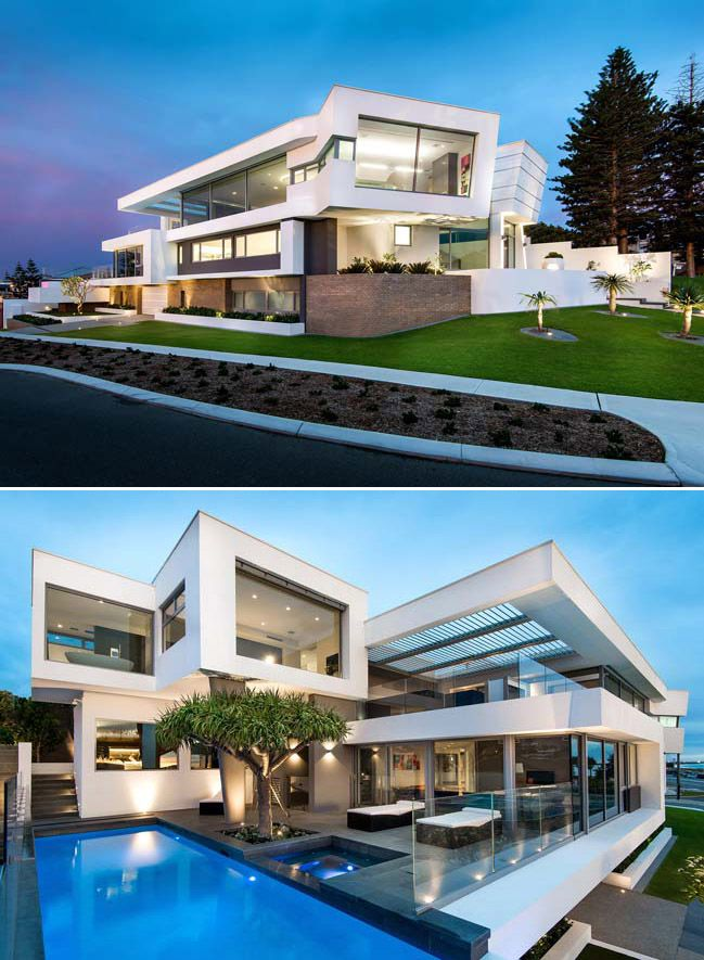 Modern Luxury Villas Designed By Gal Marom Architects: Luxury Villa In Perth By Hillam Architects