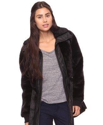 Faux Fur Leatherette Jacket - StyleSays