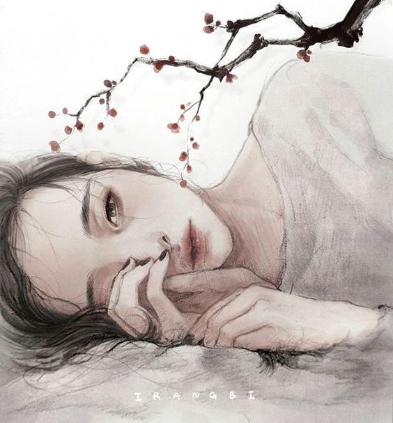 꽃잎처럼 하르르 마르고 싶을 때가 있다 #160303#이랑#irangbi#매화#이수익#꽃잎처럼#시#일러스트#apricotblossom#poem#pencil#photoshop#draw#drawing#illust#illustration#art