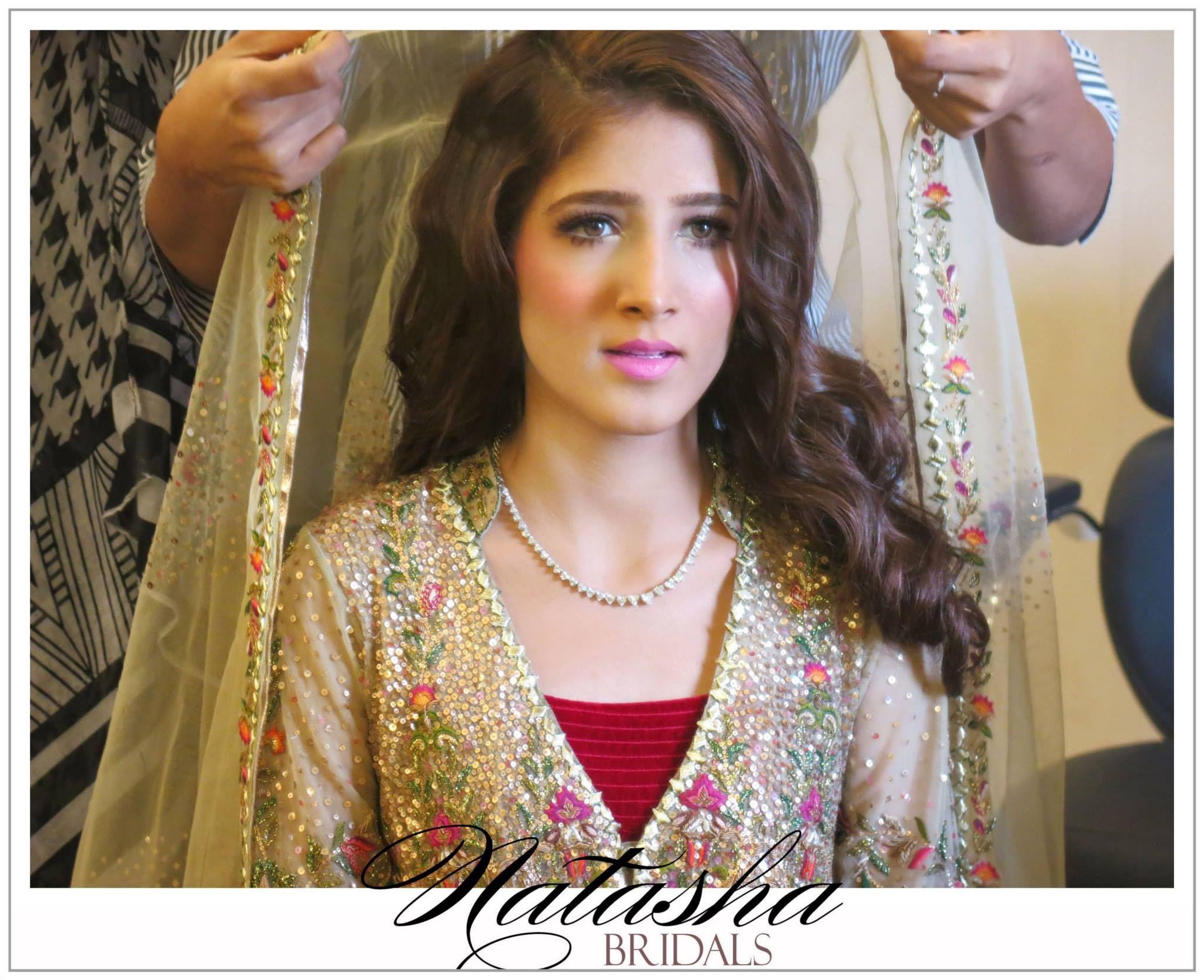 Mehndi Makeup Karachi : Mehndi bride makeup by natasha beauty salon bridal