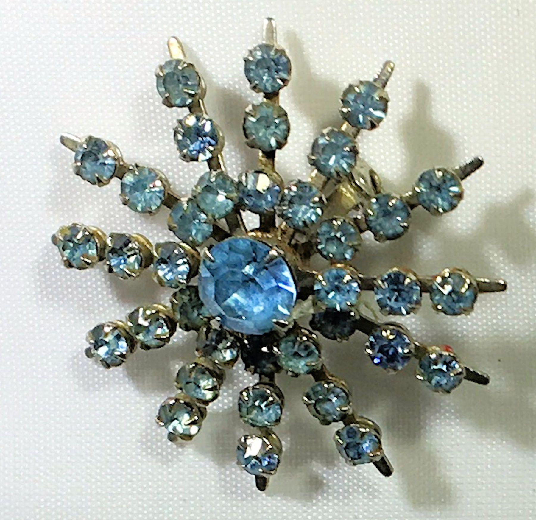 Brooch Pin Star Sun Burst Antique