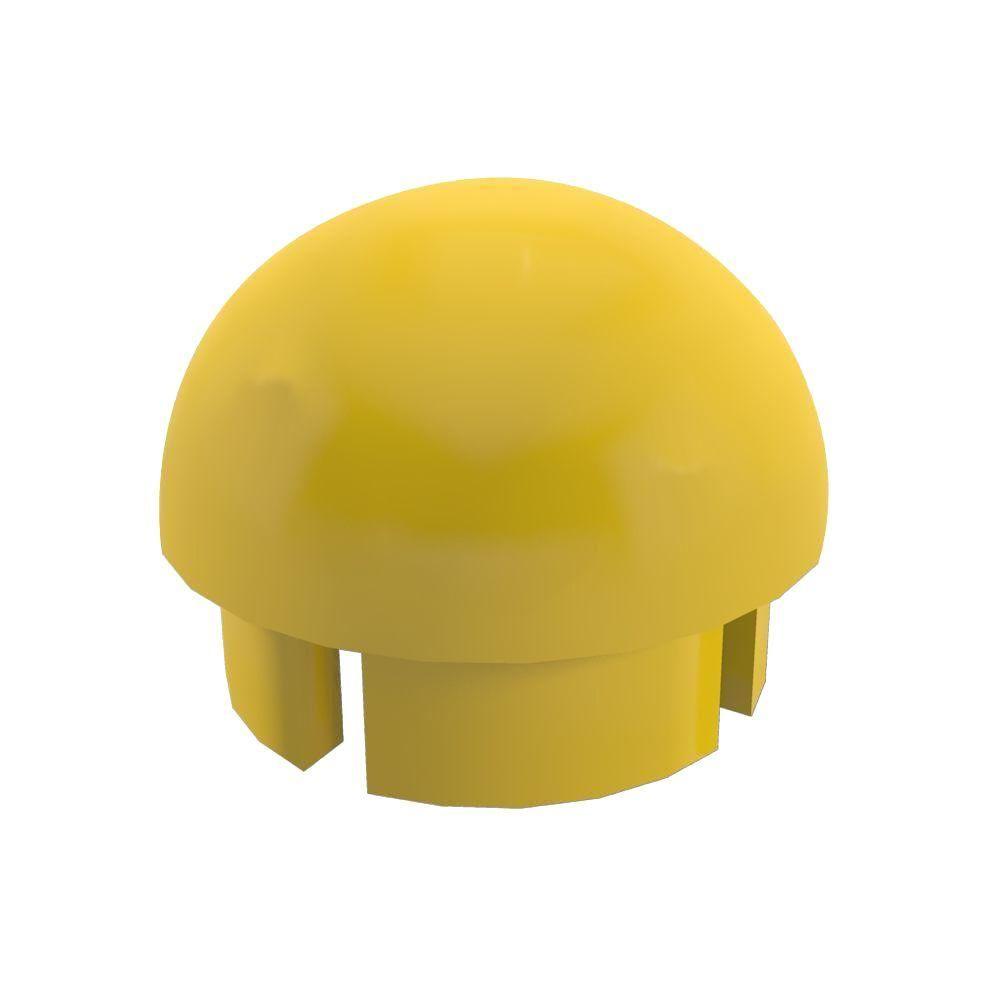 ad5fcc666dd22 Formufit 1-1 4 in. Furniture Grade PVC Internal Ball Cap in Yellow ...