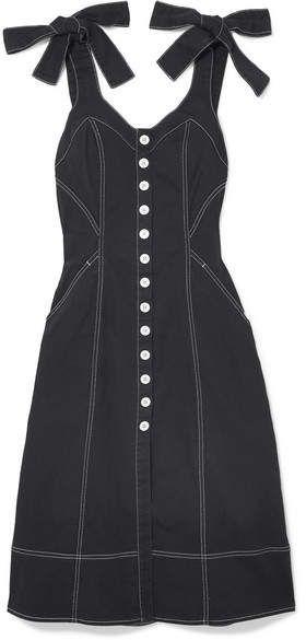 095d8f5afef Ulla Johnson - Emory Bow-detailed Denim Dress - Black