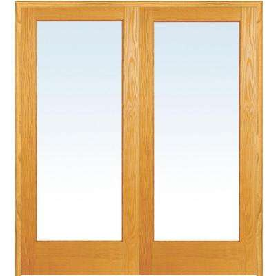 500 60 In X 80 In Both Active Unfinished Pine Wood Full Lite Clear Prehung Interior F French Doors Interior Prehung Interior French Doors Glass French Doors