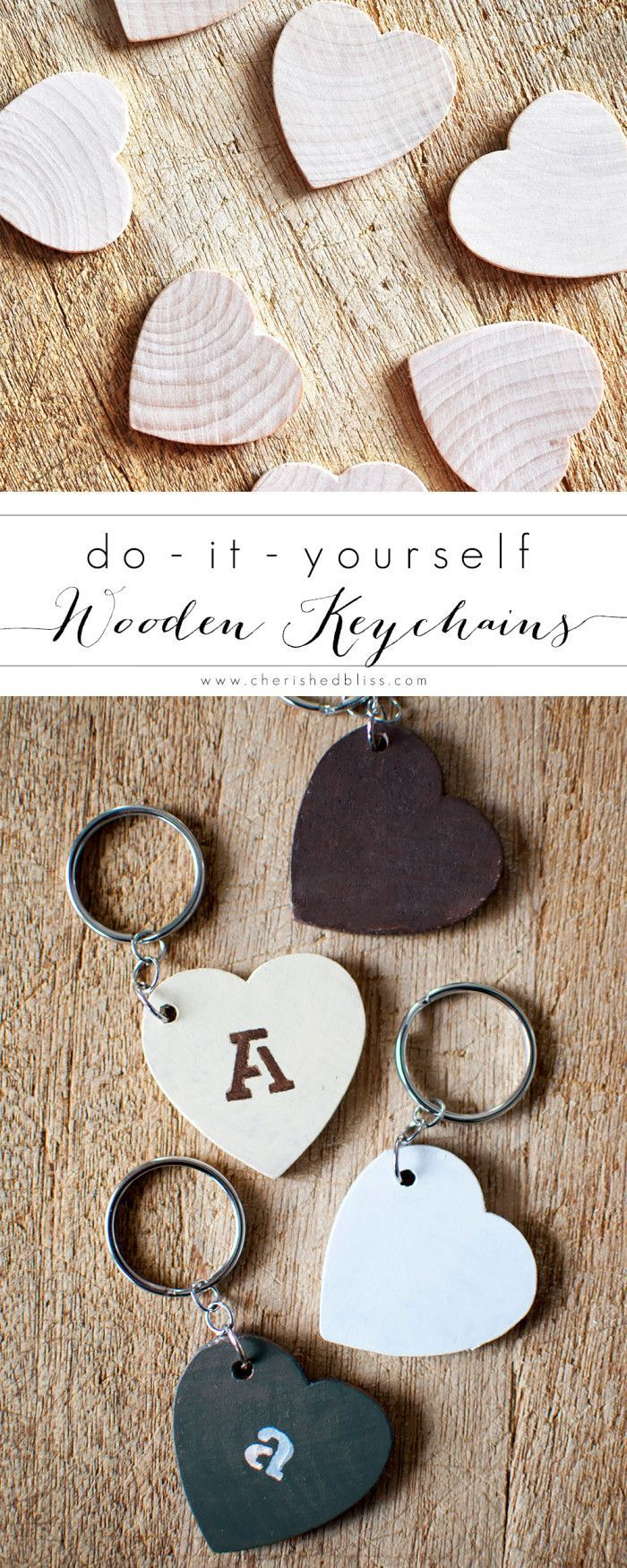 Diy keychains made from wooden hearts keychains easy handmade these diy keychains couldnt be easier to make and they are the perfect handmade gift for any age get the tutorial at httpcherishedbliss solutioingenieria Images