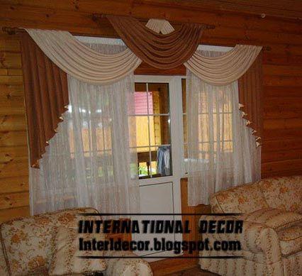 top living room curtain model with unique draperies design ...