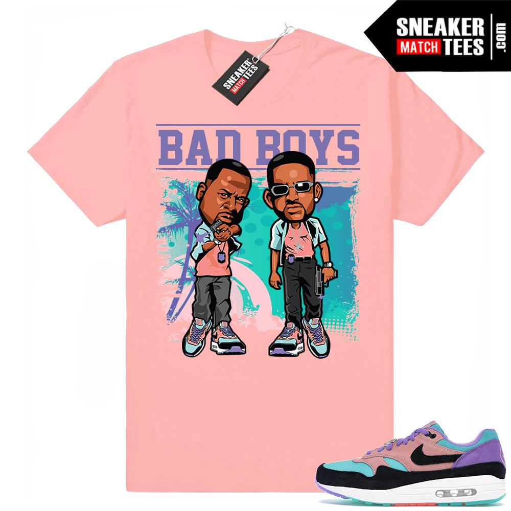Saludo Mensajero Escupir  Nike Air Max 1 Bad Boys tee-Air Max 1 Sneaker Matching T-shirt   Sneaker  match, Air max 1, Boy tees