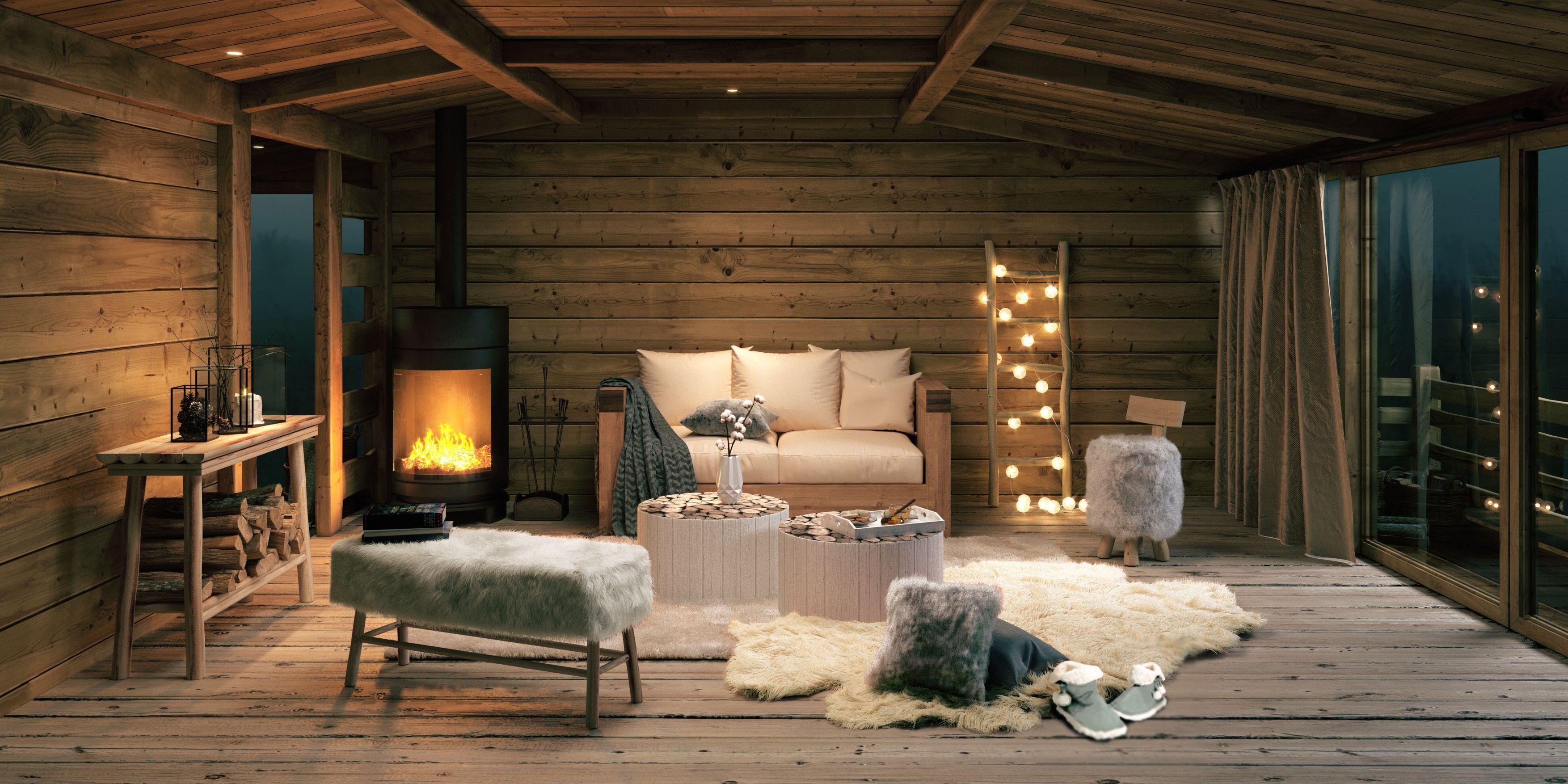 18 Deco Chambre Esprit Chalet  Room, Living room, Living room
