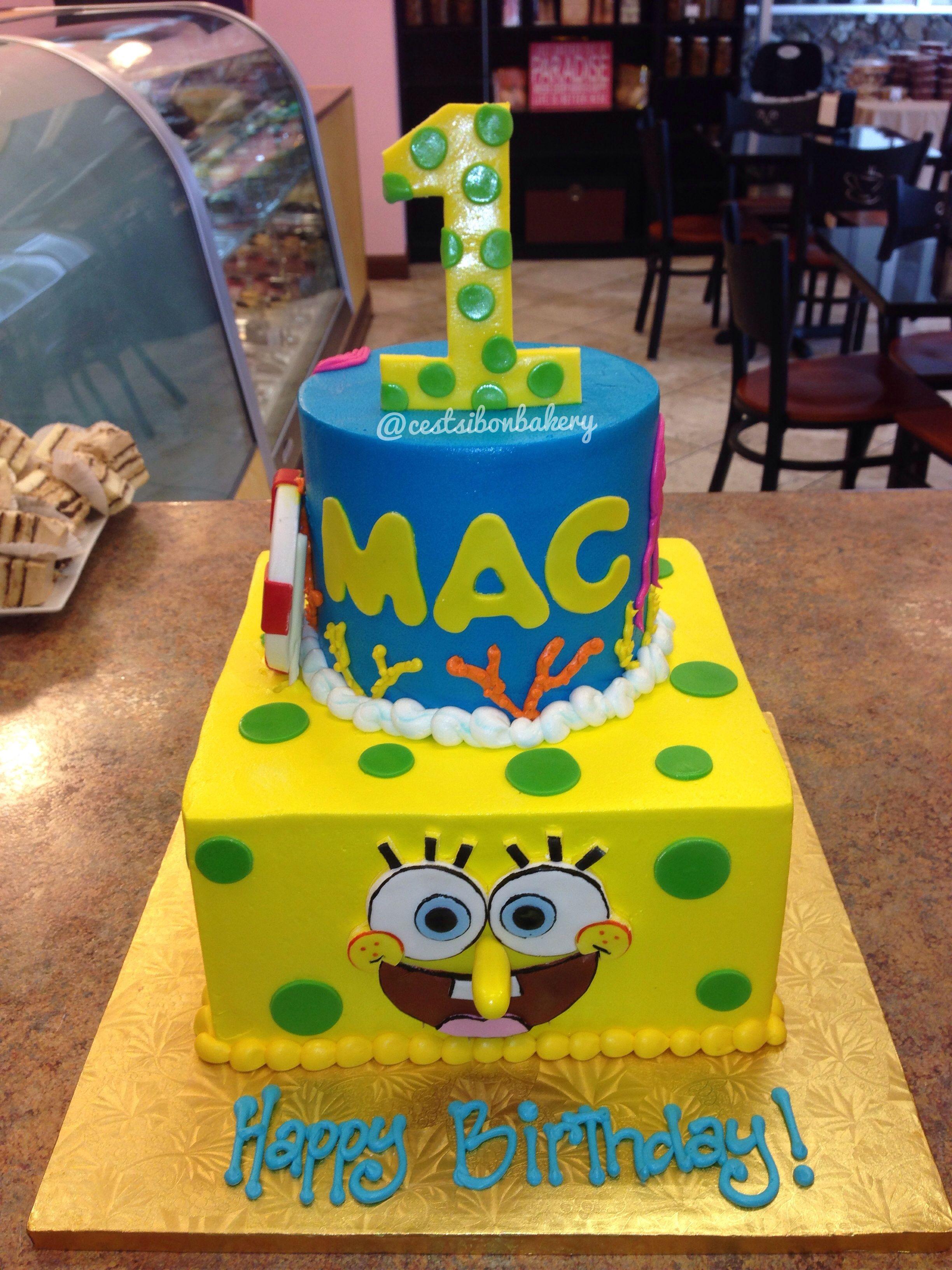 Wondrous Spongebob Cake Spongebob Cake Spongebob Birthday Birthday Funny Birthday Cards Online Drosicarndamsfinfo