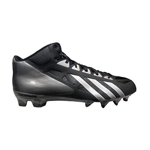 new arrivals 43912 f2bf1 Adidas Mens Filthy Quick Mid Molded Football Cleats ,  BlackBlackTitanium, Size 11.5