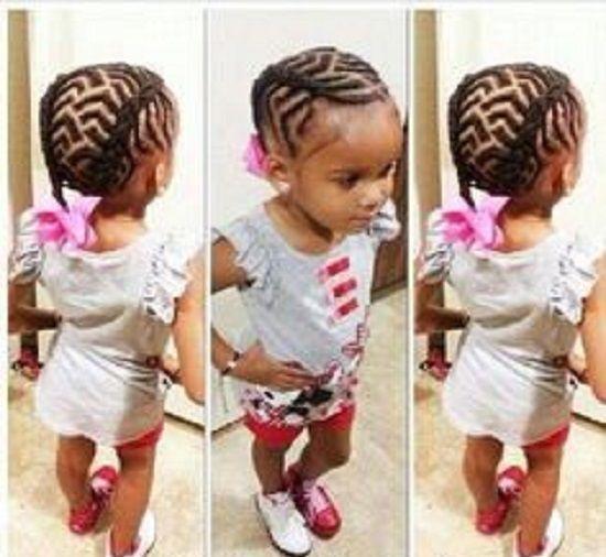Strange 1000 Images About Braids For Baby Girl On Pinterest Cornrows Short Hairstyles For Black Women Fulllsitofus