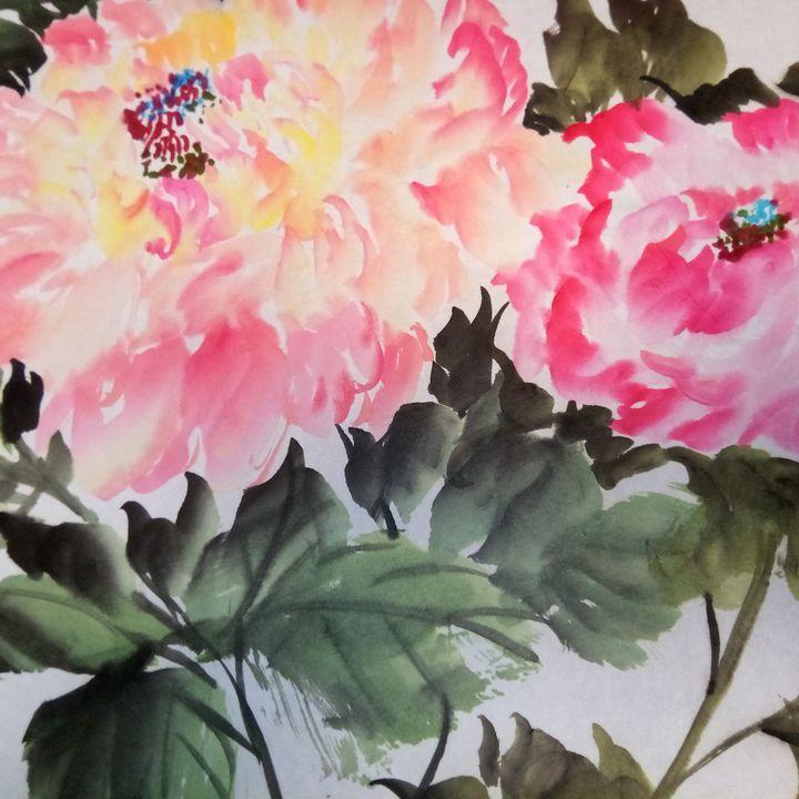 peony09262019-4 - sundongling watercolor  flower