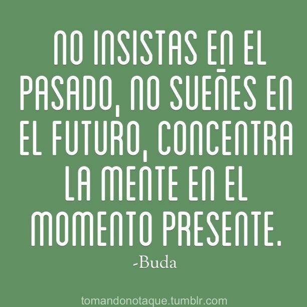 No insistas en el pasado… Concentra la mente en el momento presente.