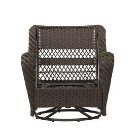 $277 Each With Sunbrella Cushions Added   Garden Treasures Glenlee Wicker  Conversation Chair