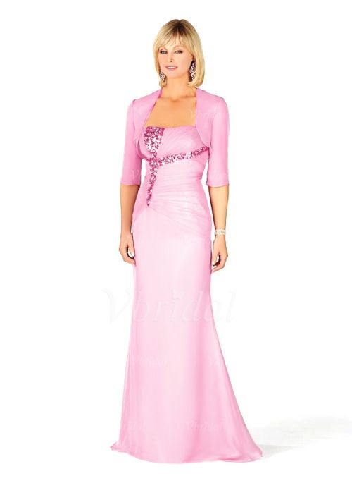 Mother of the Bride Dresses - $147.50 - A-Line/Princess Strapless Floor-Length Chiffon Charmeuse Mother of the Bride Dress With Ruffle (00805007184)