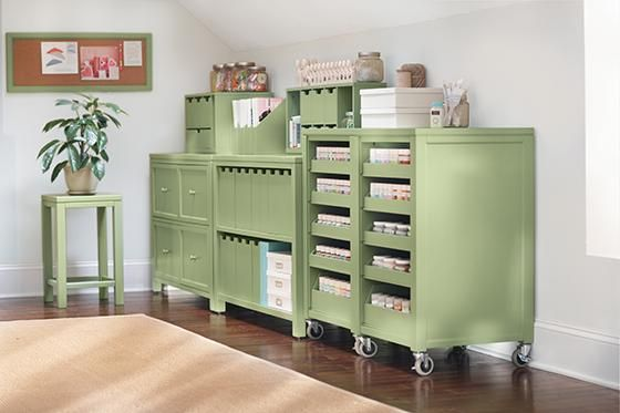 Lovely Martha Stewart Living™ Craft Space Cart With Pull Out Trays   Martha  Stewart Living™ Craft Space   Storage And Display | HomeDecorators.com
