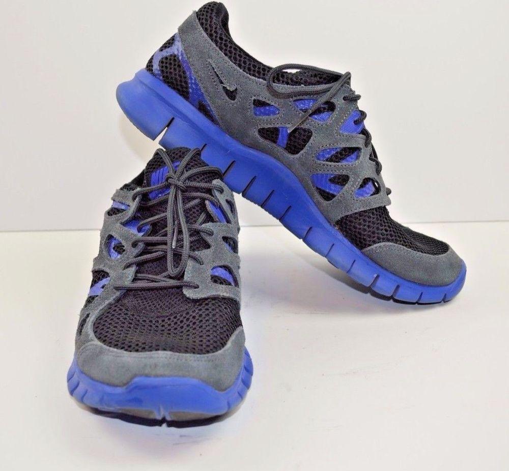 Men's nike free runs 2 ext 555174-044 black/black-hyper blue-hyper blue  msrp$100
