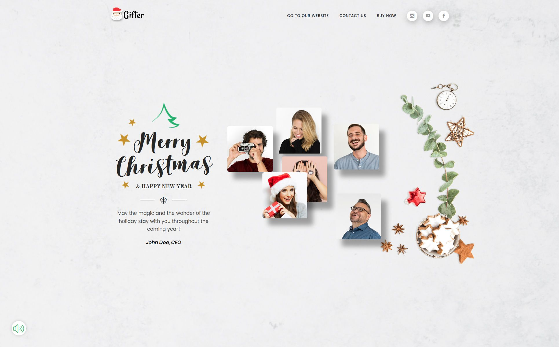 Gifter Greeting Card Html Landing Page Template Page Template Templates Greeting Cards