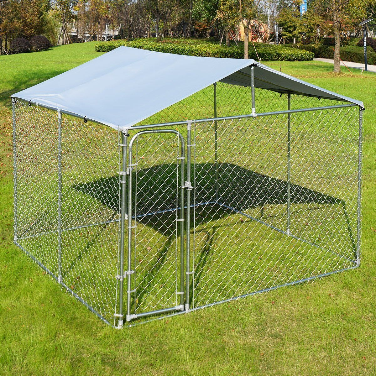 Giantex Large Pet Dog Run House Kennel Shade Cage Roof Cover Backyard Playpen Dog Kennel Kennel Cover 10 X 10 Descriptio Canil Ideias De Casas Casas Novas